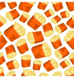 Crispy french fries seamless pattern background vector