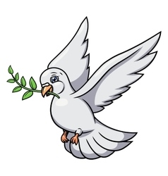 Dove with olive branch 2 vector image
