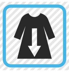 Download female dress icon in a frame vector