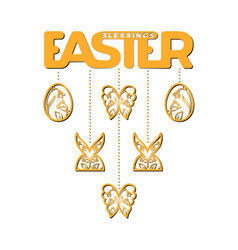 easter laser cutting vector image