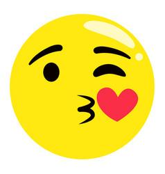 emoji kissing facial expression emoticon sticker vector image