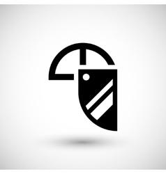 Face shield icon vector