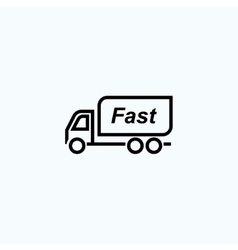 fast delivery vector image