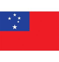 Flag of Samoa vector