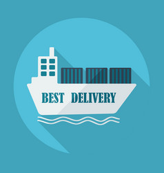 Flat modern design with shadow icons ship delivery vector