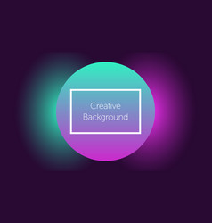 futuristic background with circle and light vector image