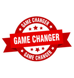 game changer ribbon game changer round red sign vector image