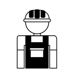 Gardener silhouette avatar icon vector