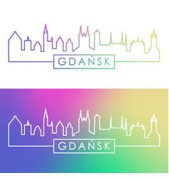 Gdansk skyline colorful linear style editable vector