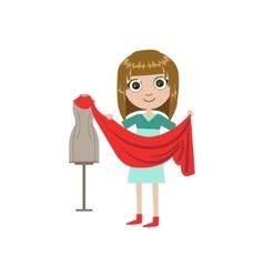 Girl Future Fashion Designer vector
