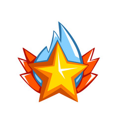 Golden star award on a white vector