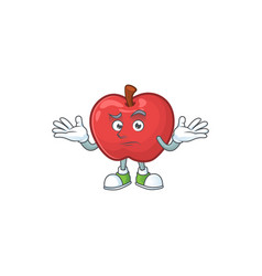 Grinning apple fruit character mascot for health vector