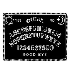 Hand draw black ouija board with moon and the vector