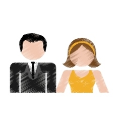 Happy couple design vector