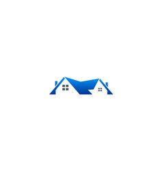 home roof business logo vector image