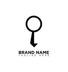 Job search logo design template vector