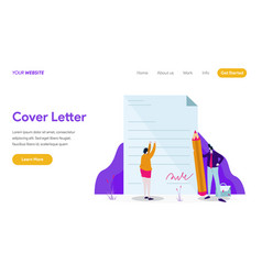 landing page template cover letter concept vector image