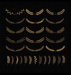laurels and wreaths design elements vector image