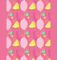 Lemons pattern background punchy pastel vector