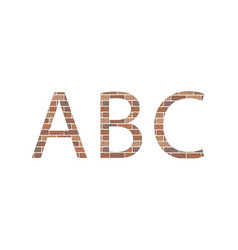 letters abc in bricks vector image
