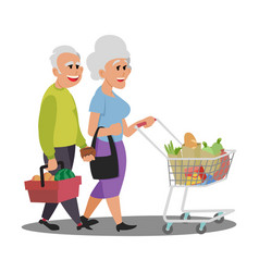 lovely store white nice couple old people vector image
