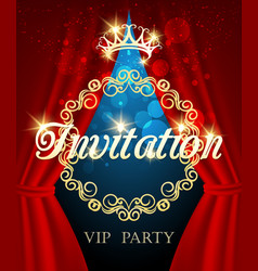 luxury invitation card vip party invite vector image