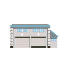 modern industrial unit with roller doors vector image