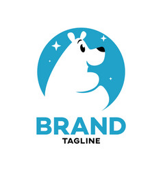 modern logo cartoon character polar bear vector image