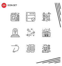 Modern set 9 outlines pictograph game vector