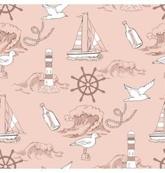 Nautical seamless pattern vector