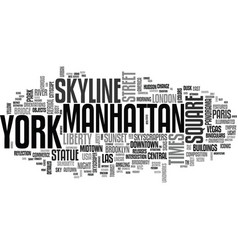 New york word cloud concept vector