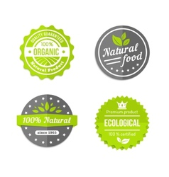 Organic natural and eco food icons set vector
