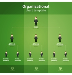 Organizational chart template vector