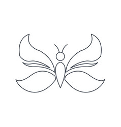 Outlined butterfly decoration animal natural vector