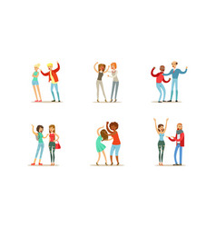 people quarreling and arguing set male and female vector image
