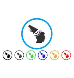 Propaganda megaphone rounded icon vector
