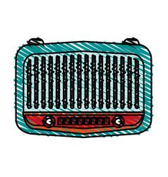 radio retro old icon vector image