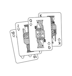 Royal flush playing club cards poker casino vector