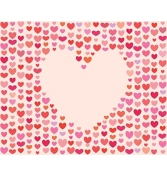 Saint Valentines Day Heart Frame vector image