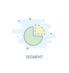 segment line concept simple line icon colored vector image