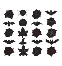 set of halloween background overlays label vector image