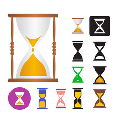 set of of an hourglass vector image