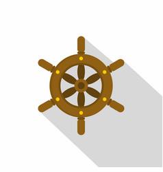 ship wheel icon flat style vector image