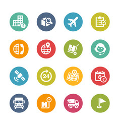Shipping and tracking icons - fresh colors series vector