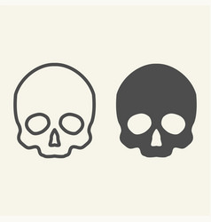 skull line and glyph icon danger vector image