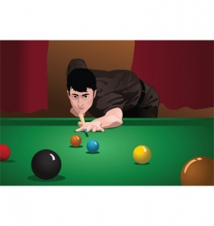 snooker vector image