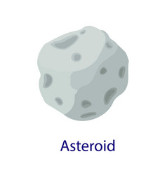 Space asteroid icon flat style vector