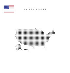 Square dots pattern map united states american vector