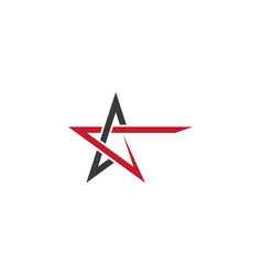 star logo template design vector image