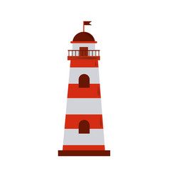 Summer vacation travel lighthouse guide maritime vector